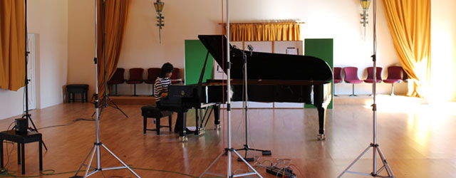 Recording at Potton Hall, Suffolk