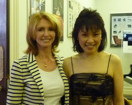 Noriko Ogawa and Jane Asher at Jamie's Concert UK, 2010